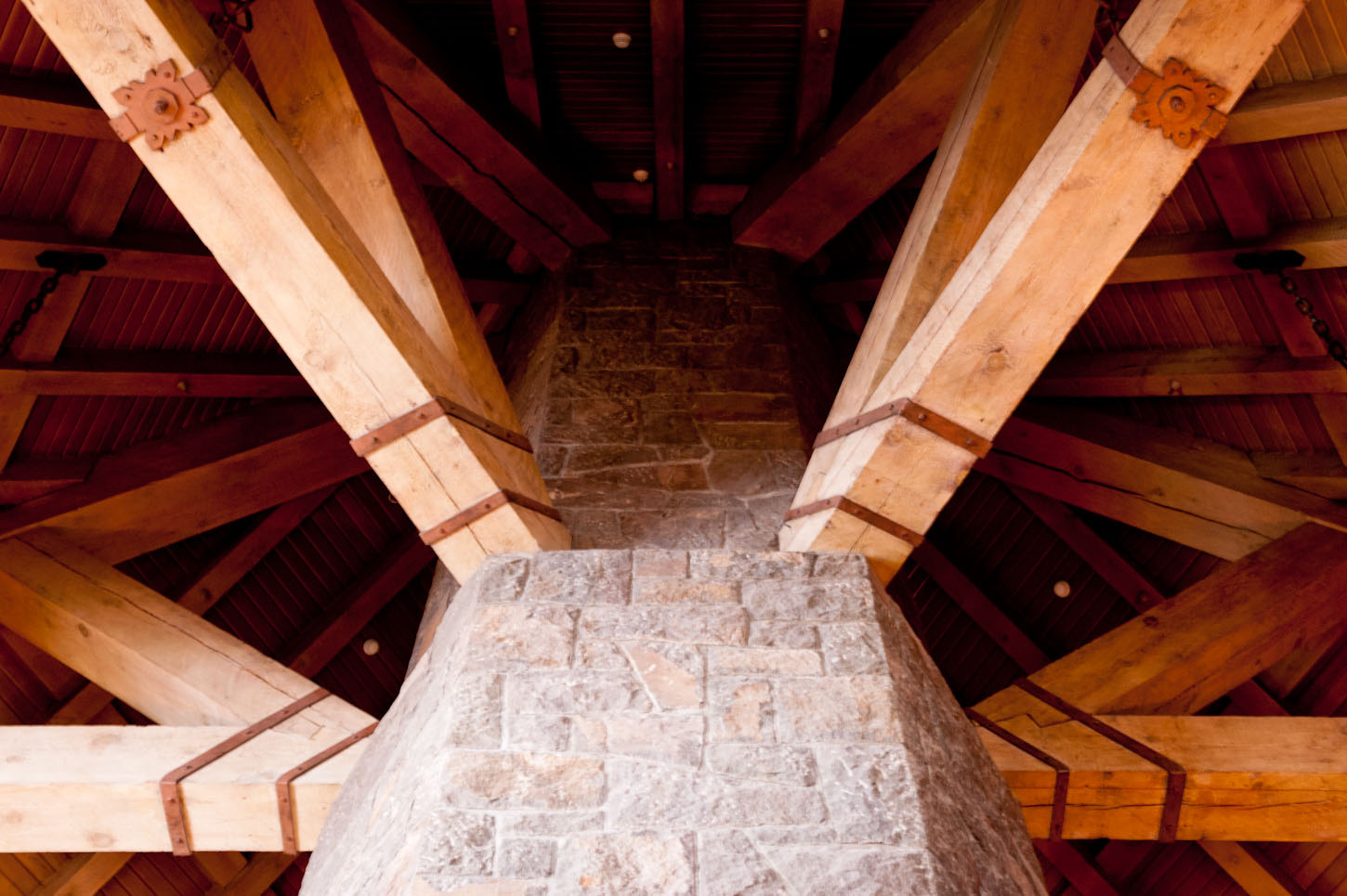 Inside the Timberline Lodge, Oregon